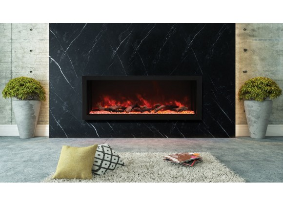 60″ Wide - Deep Indoor Or Outdoor Electric Built-in Only With Black Steel Surround - Lifestyle