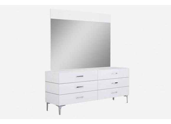 Diva Dresser Double In High Gloss White
