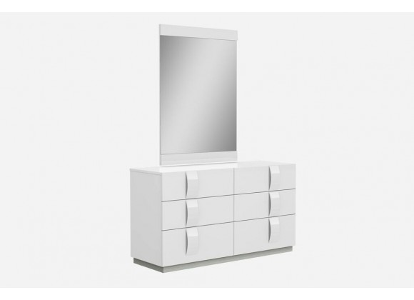 Kimberly Dresser Large High Gloss White With Self-closing Runners