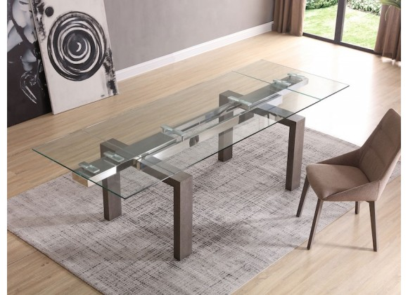 Whiteline Modern Living Davy Extendable Dining Table - Grey Oak