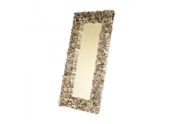 Bellini Modern Living Kappa Driftwood Mirror, Front Angle