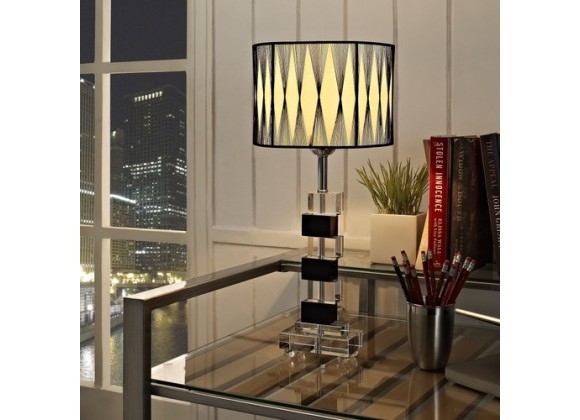 Modway Percussion Table Lamp in Black and White
