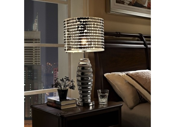 Modway Sparkle Table Lamp in Silver