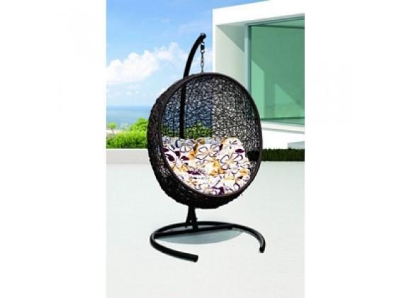 Modway Encase Swing Lounge Chair in Espresso White - On SALE!
