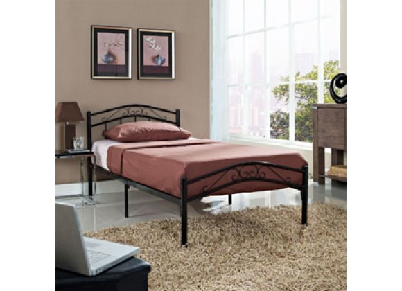 Modway Townhouse Bed Frame in Black