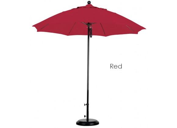 California Umbrella 9' Fiberglass Market Umbrella Pulley Open Black - Pacifica