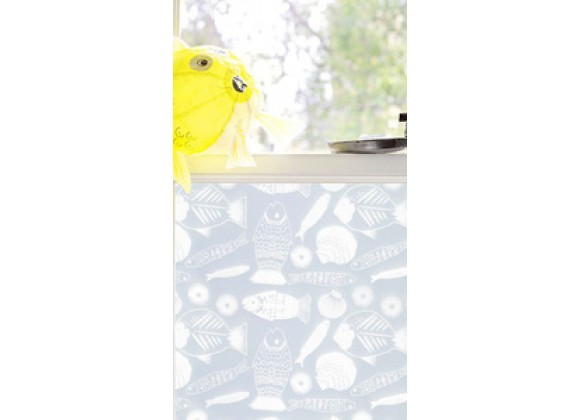 Emma Jeffs Adhesive Window Film, Fishy Fish