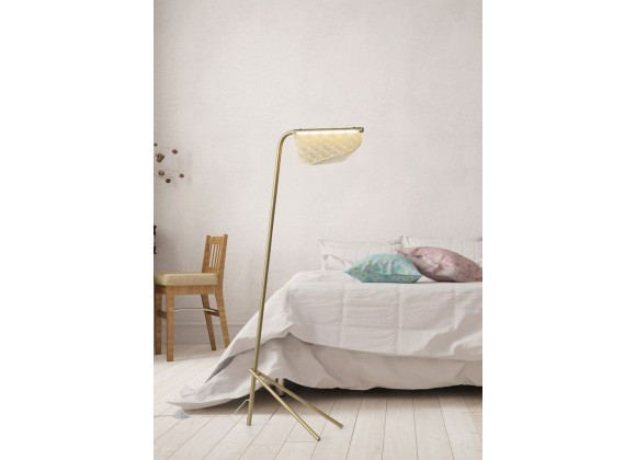 Piper Floor Lamp Golden Carbon Steel - Lifestyle