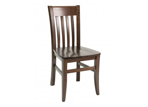 European Beechwood Wood Dining Chair - FLS-03S - Front