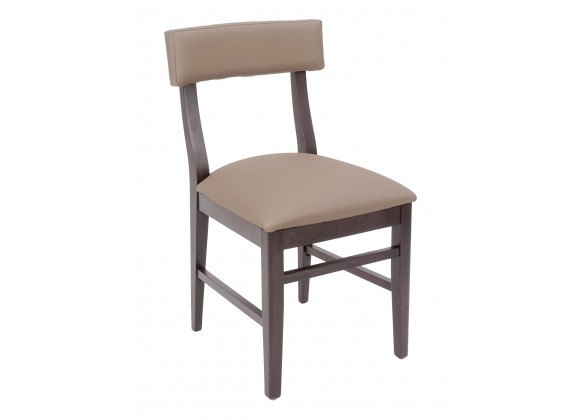 European Beechwood Wood Dining Chair - Cumin - Front