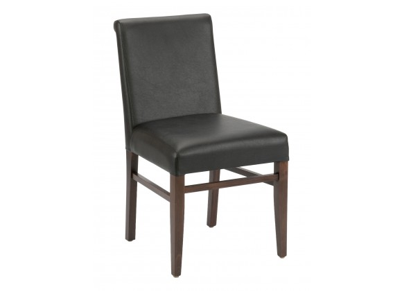 European Beechwood Wood Dining Chair - Front - Black