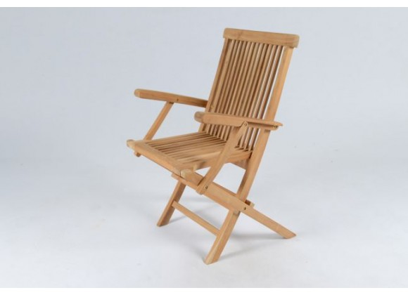 Jakarta Teak Folding Chair - Side