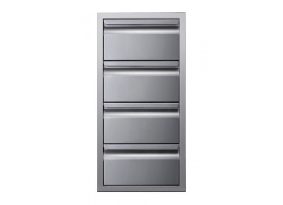 """Memphis Grills Three Drawer Stack 15"""" - Front"""