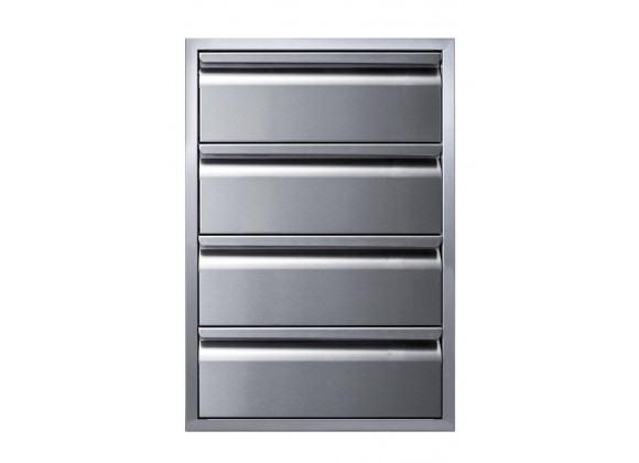 """Memphis Grills Four Drawer Stack 21"""" - Front"""