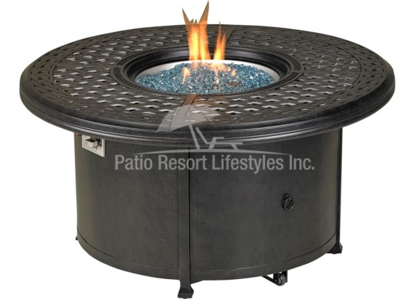 """48"""" Windsor Series Round Fire Table With Built-In Burner Accessory"""