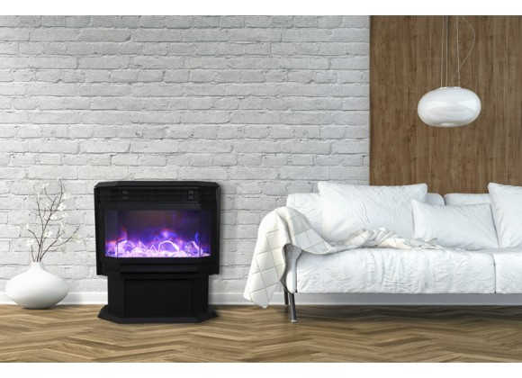 "Sierra Flame 34"" Wall Mount / Flush Mount Fireplace - Lifestyle"