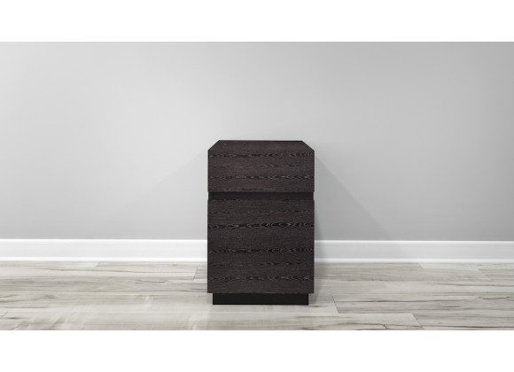 Furnitech FT16PDG 2 Drawer Contemporary Rolling Pedestal - Head On