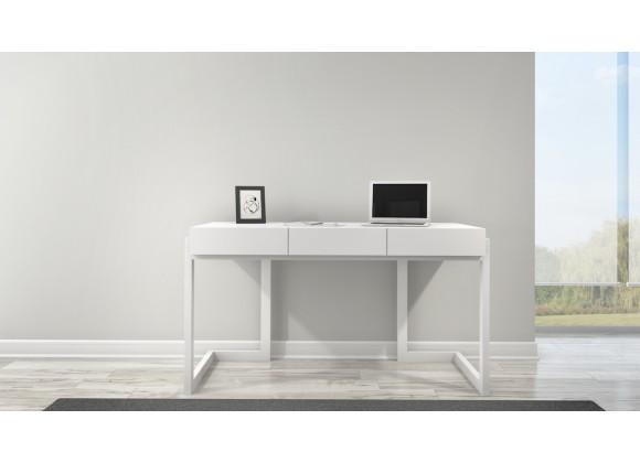 Furnitech Contemporary Writing Desk in Textured Matte White