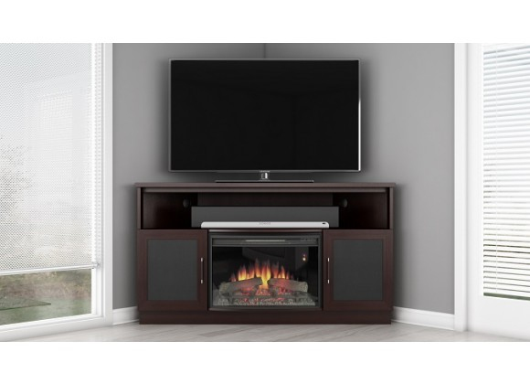 "Furnitech 61"" Contemporary TV Media Corner Console"