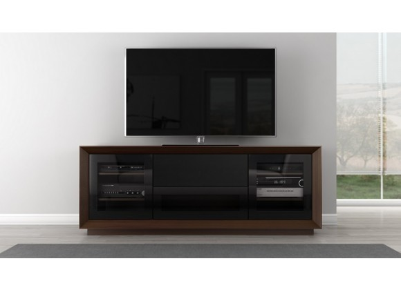 "Furnitech 70"" Contemporary TV Stand - Warm Walnut"