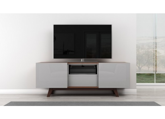 Furnitech Modern TV Stand w/ Italian Engineered Veneer Case
