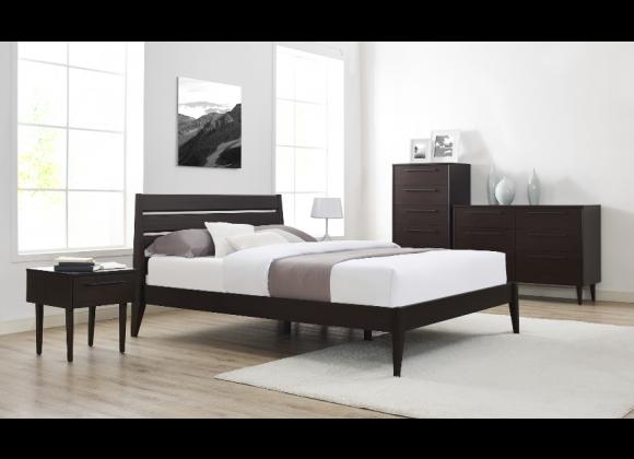 Sienna Eastern King Bed - Mocha