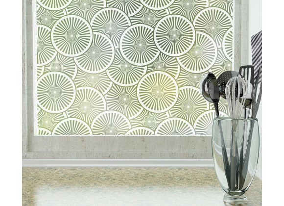 Odhams Press Slice Frosted Non-Adhesive Decorative Window Film - Privacy Cling Film
