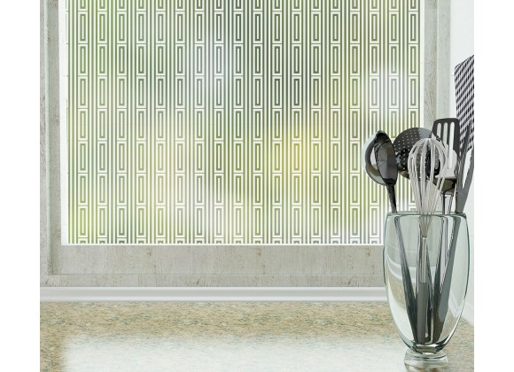 Odhams Press Roman Frosted Non-Adhesive Decorative Window Film - Privacy Cling Film