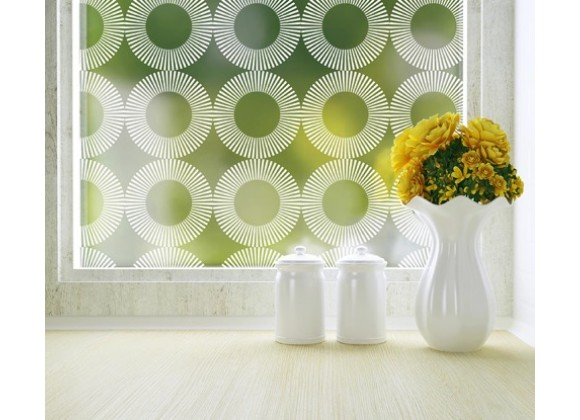 Odhams Press Radial Privacy Adhesive Window Film