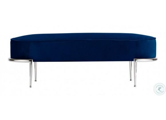 Bellini Modern Living Chaira Bench in Blue Velvet