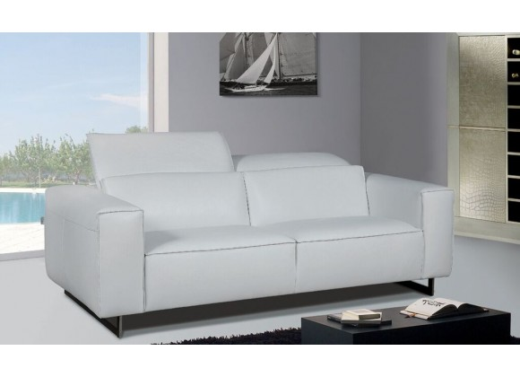 Giadia Loveseat With Adjustable Neck Rest Cushions White