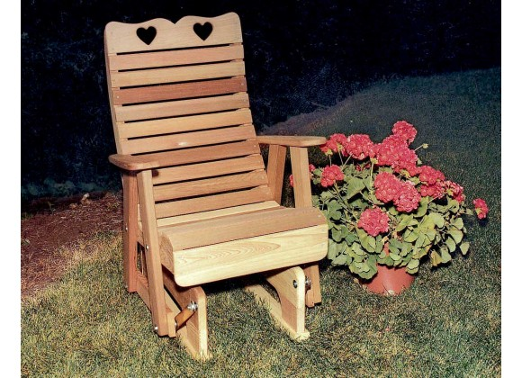 Cedar Royal Country Hearts Glider Chair