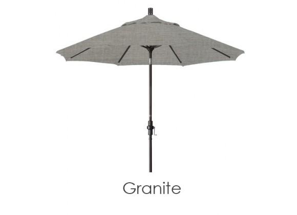 California Umbrella 9' Aluminum Market Umbrella Collar Tilt - Bronze - Sunbrella