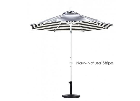 California Umbrella 9' Aluminum Market Umbrella Collar Tilt - Matted White - Olefin