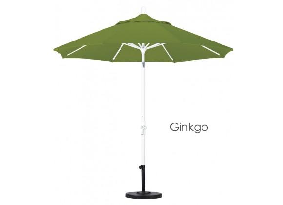 California Umbrella 9' Aluminum Market Umbrella Collar Tilt - Matted White - Pacifica