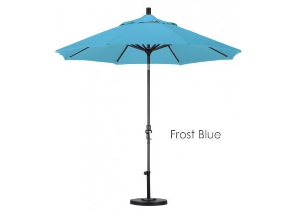 California Umbrella 9' Aluminum Market Umbrella Collar Tilt - Matted Black - Olefin