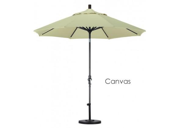 California Umbrella 9' Aluminum Market Umbrella Collar Tilt - Matted Black - Pacifica