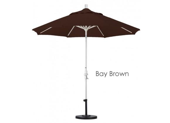 California Umbrella 9' Aluminum Market Umbrella Collar Tilt - Sand - Sunbrella