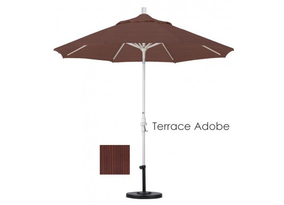 California Umbrella 9' Aluminum Market Umbrella Collar Tilt - Sand - Olefin