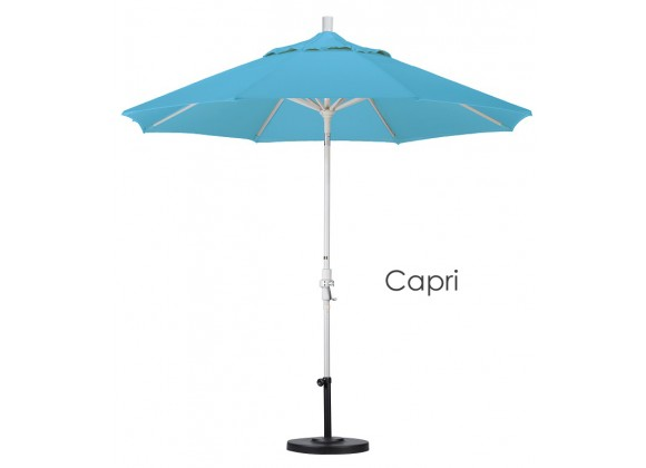 California Umbrella 9' Aluminum Market Umbrella Collar Tilt - Sand - Pacifica