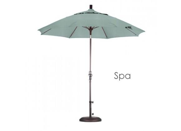 California Umbrella 9' Fiberglass Market Umbrella Collar Tilt Bronze - Sunbrella