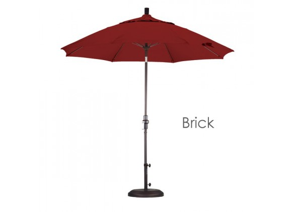 California Umbrella 9' Fiberglass Market Umbrella Collar Tilt Bronze - Pacifica