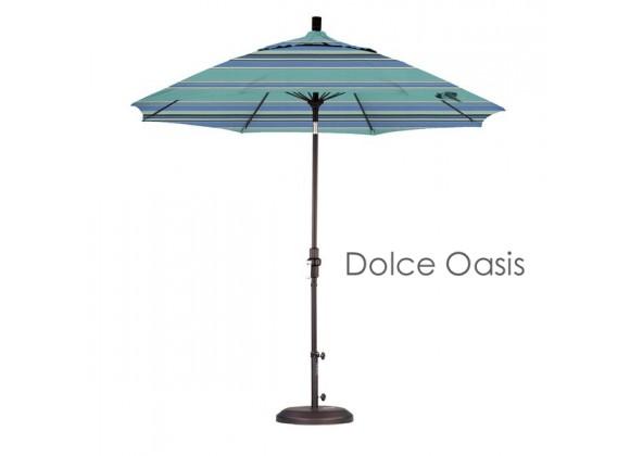 California Umbrella 9' Fiberglass Market Umbrella Collar Tilt M Black - Sunbrella