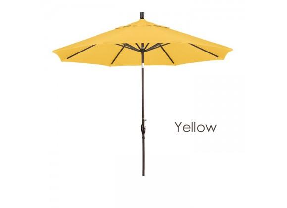 California Umbrella 9' Aluminum Market Umbrella Push Tilt - Bronze - Pacific