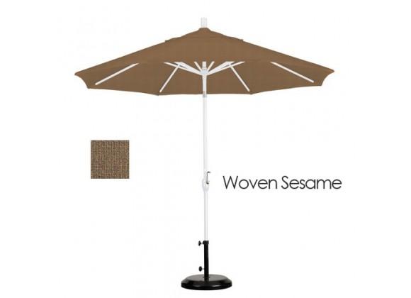 California Umbrella 9' Aluminum Market Umbrella Push Tilt - M White - Olefin