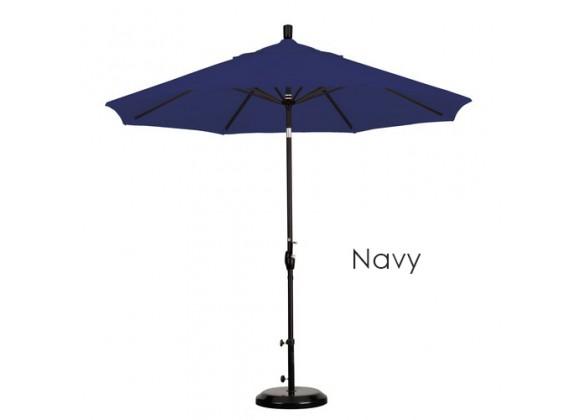 California Umbrella 9' Aluminum Market Umbrella Push Tilt - M Black - Sunbrella