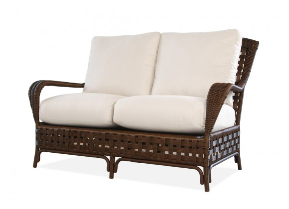 Haven Loveseat in Tobacco - Angled