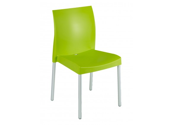 Polypropylene Shell With Aluminum Legs Side Chair - WIC-10 - Leaf