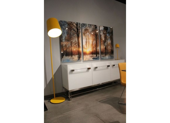Dante Floor Lamp Yellow Carbon Steel - Lifestyle