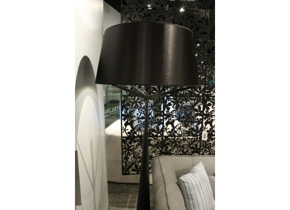 Paris Floor Lamp Black Carbon Steel And Fabric - Lifestyle